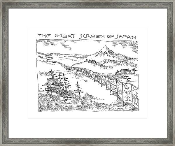 The Great Screen Of Japan Framed Print