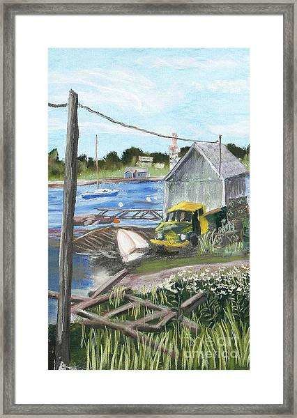 The Green And Yellow Truck Framed Print