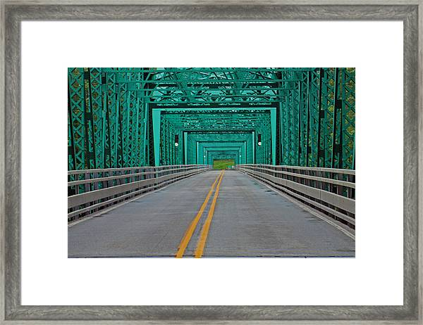 The Green Bridge Framed Print