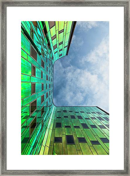 The Green Building Framed Print by Leon