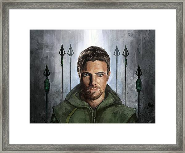 The Green Vigilante  Framed Print