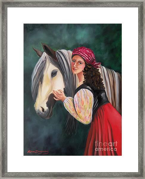 The Gypsy's Vanner Horse Framed Print