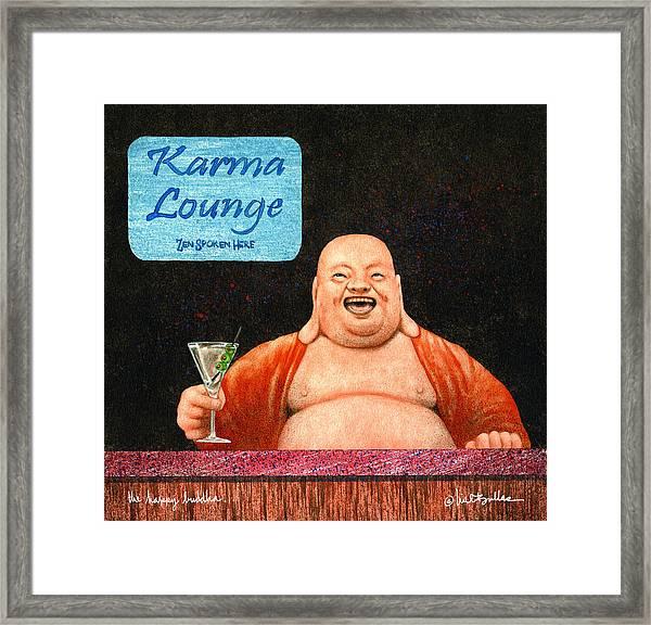The Happy Buddha... Framed Print