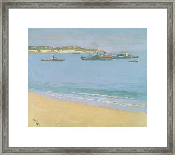 The Harbour At St. Jean De Luz - Early Framed Print