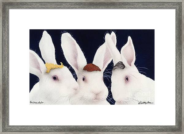 The Hare Club... Framed Print by Will Bullas