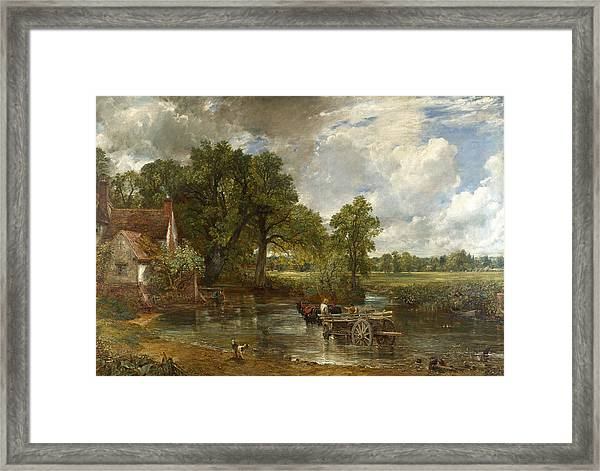 Framed Print featuring the painting The Hay Wain by John Constable