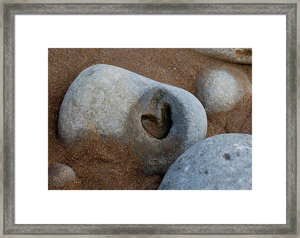 The Heart Of Omaha Beach Framed Print