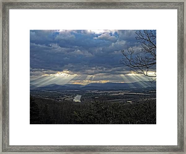 The Heavenly Valley Framed Print