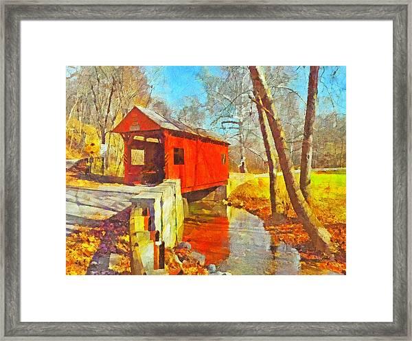 The Henry Bridge At Mingo Creek Park 3 Framed Print