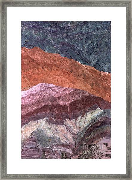 The Hill Of Seven Colors Argentina Framed Print
