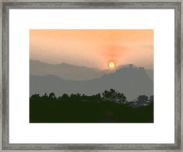 The Hills Of Aragon Framed Print