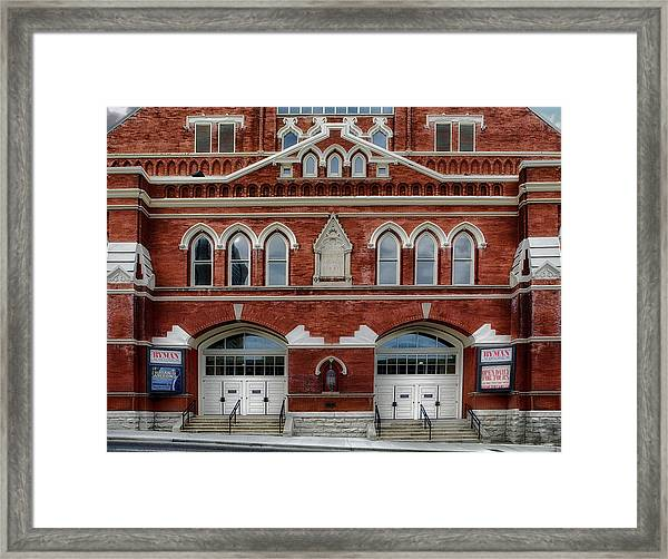 The Home Of Country Music Framed Print