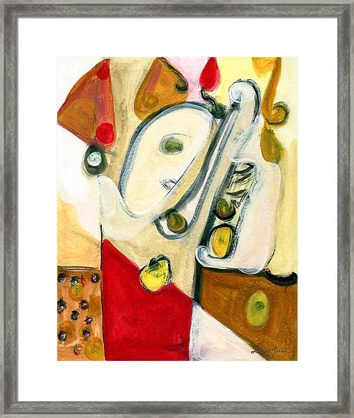 The Horn Player Framed Print