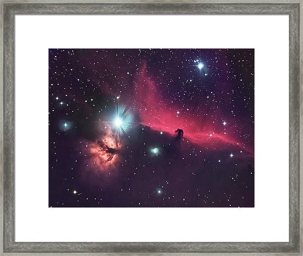 The Horse In The Sky Framed Print
