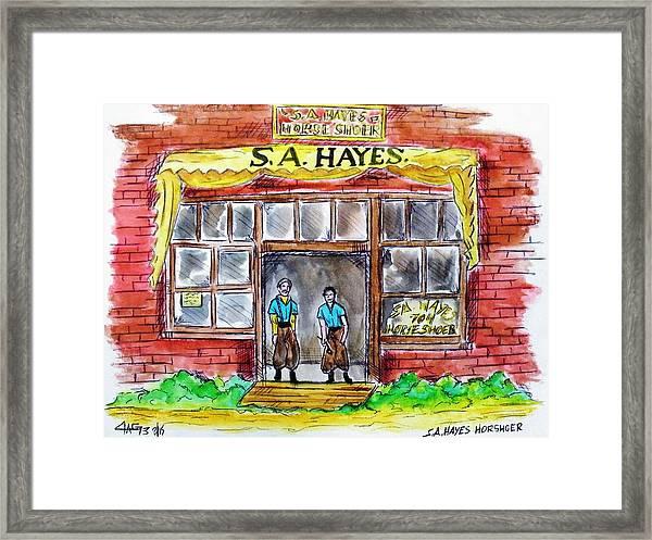 The Horseshoer Framed Print