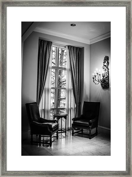 The Hotel Lobby Framed Print