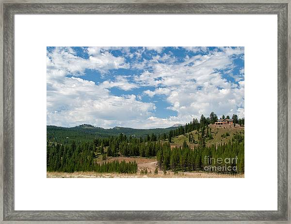 The House On The Hill Framed Print