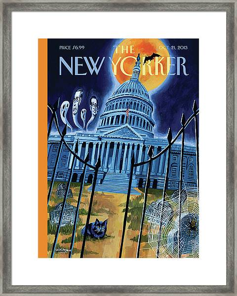 The House Republicans Haunt The Captiol Building Framed Print