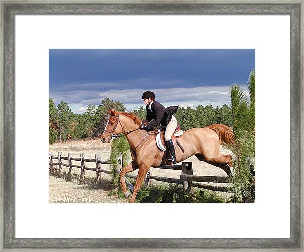 The Hunt 3 Framed Print