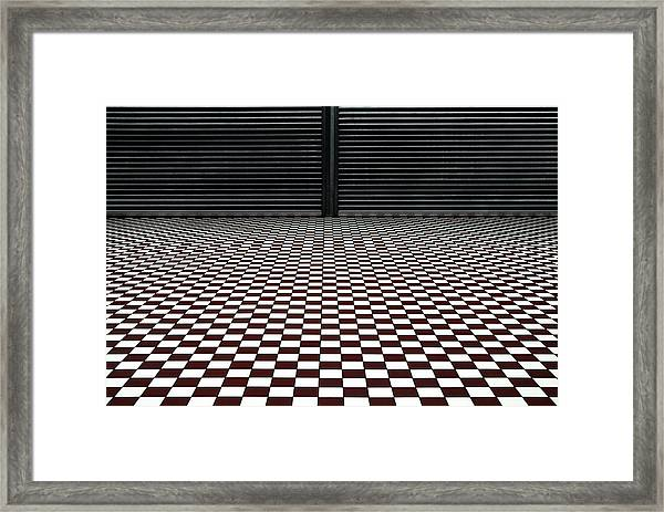 The Hypnotic Floor Framed Print by Gilbert Claes