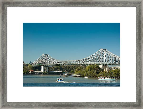 The Icon Of Brisbane - Story Bridge Framed Print