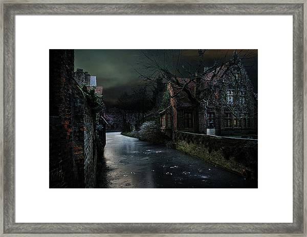 The Icy Corner Framed Print