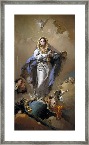 Framed Print featuring the painting The Immaculate Conception by Giovanni Battista Tiepolo