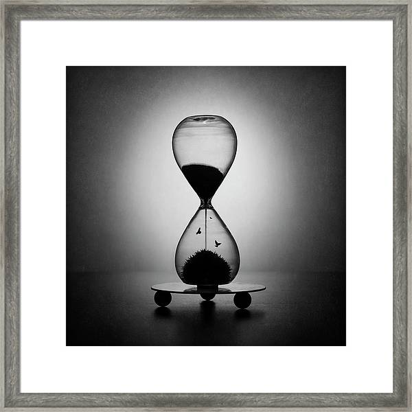 The Inexorable Passage Of Time Framed Print by Victoria Ivanova