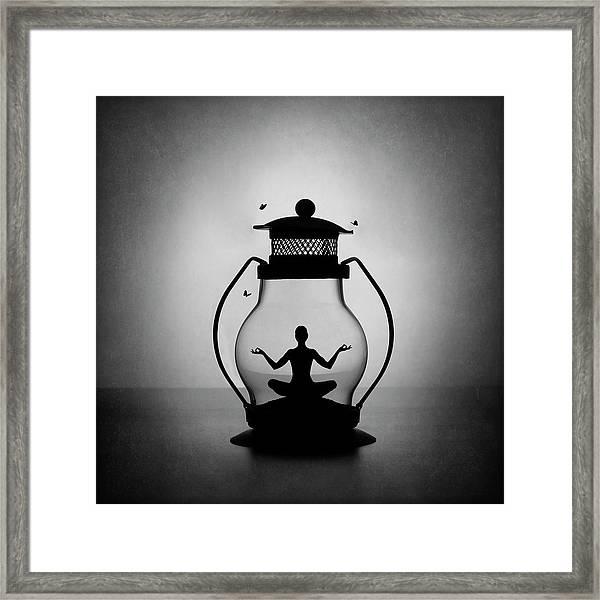 The Inner Light. Meditation. Framed Print