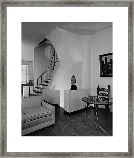 The Interior Of A Manhattan House Framed Print by Tom Leonard