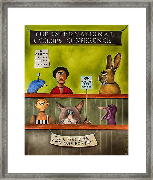 The International Cyclops Conference Edit 3 Framed Print