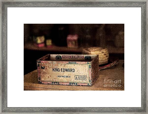 The Invincible King Edward Cigar Framed Print