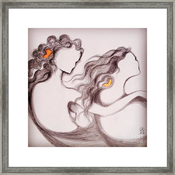 The Invisible Child Framed Print