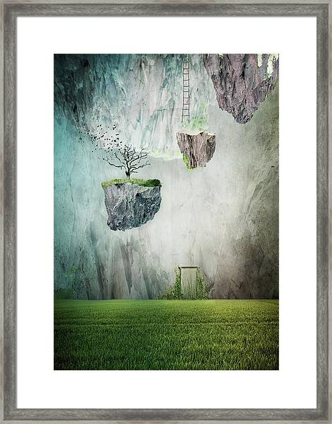 The Islands Of Oblivion Framed Print by Lucynda Lu