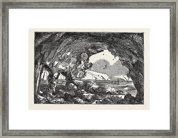 The Isle Of Wight Freshwater Cavern Framed Print