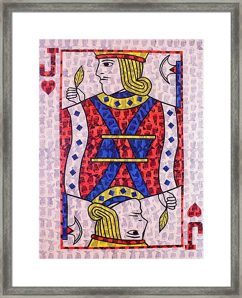 The Jack Of Hearts Framed Print
