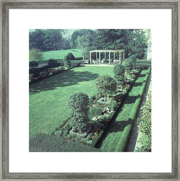 The Jacqueline Kennedy Garden At The White House Framed Print