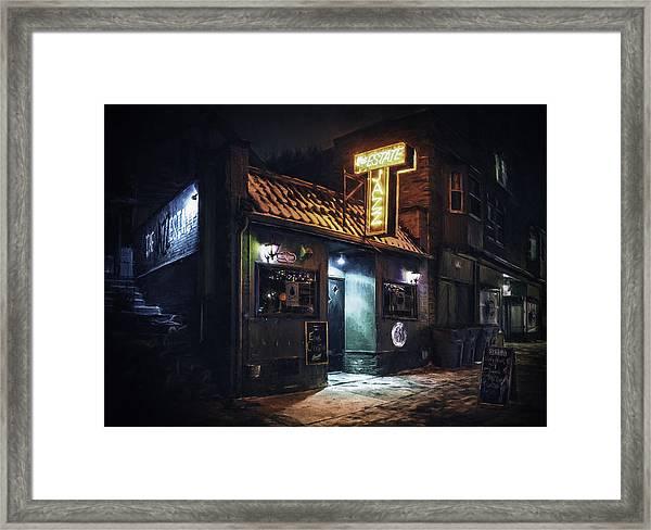The Jazz Estate Nightclub Framed Print