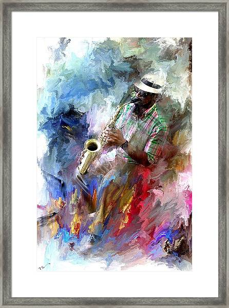 The Jazz Player Framed Print