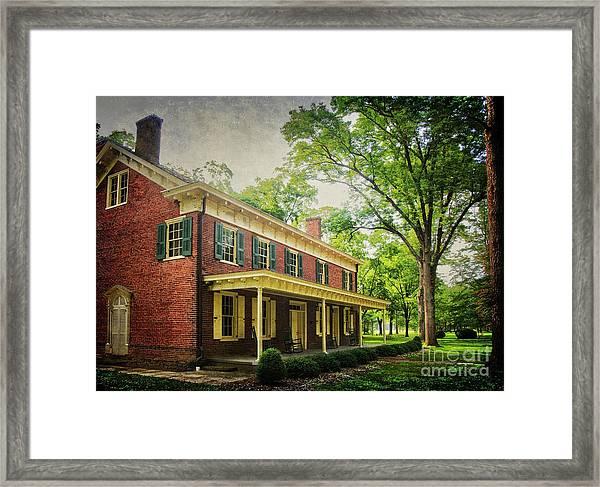 The John Stover House Framed Print