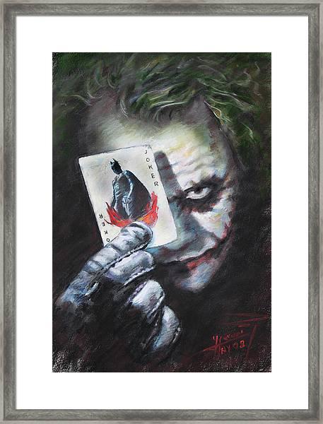 The Joker Heath Ledger  Framed Print