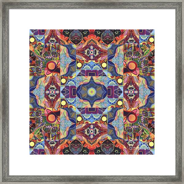 The Joy Of Design Mandala Series Puzzle 1 Arrangement 1 Framed Print