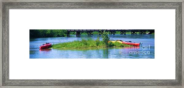the Kayaks Framed Print