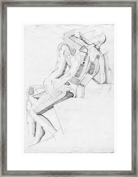 The Kiss - Homage Rodin Framed Print