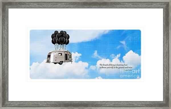 The Knack Of Flying Framed Print