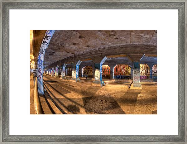 The Krog Street Tunnel Framed Print