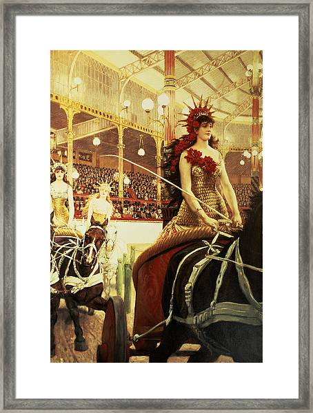 The Ladies Of The Cars Framed Print