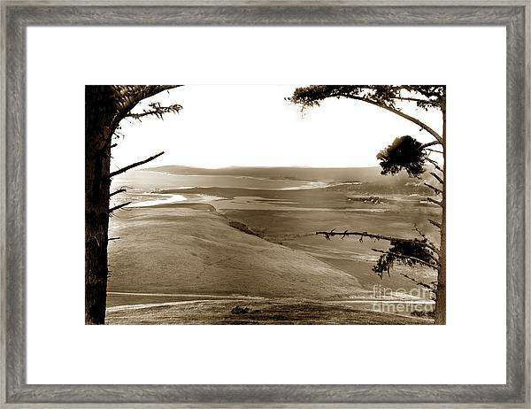 The Lagoon At The Mouth Of The Carmel River  From Fish Ranch California 1905 Framed Print