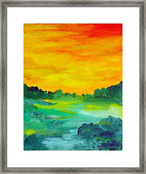 The  Lagoon Framed Print