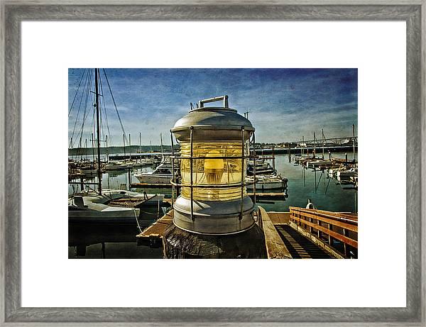 The Lamp At Embarcadero  Framed Print